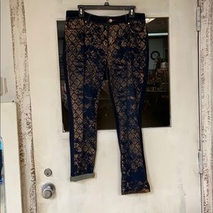 Chico's Printed Patterned Jeans